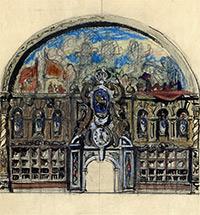Художественные работы для вокзала в начале Первой мировой воины. Вторая половина 1914-го-1915 годы