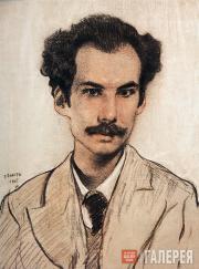 Бакст Леон. Портрет Андрея Белого. 1905