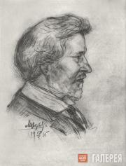 Вербов Михаил. Портрет Ильи Ефимовича Репина. 1915