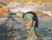 Автопортрет с шеей Рафаэля. Около 1921