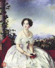 Зарянко Сергей. Портрет неизвестной. 1840-е