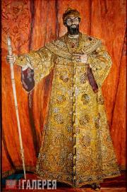 Портрет Ф.И. Шаляпина в роли Бориса Годунова в одноименной опере М.П. Мусоргског