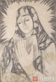 Н.С.Гончарова. Богоматерь с книгой. Начало 1910 (1912 ?)