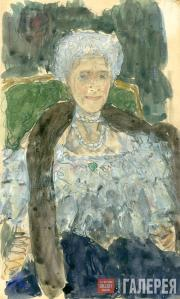 А.Я. Головин. Портрет Г.Л. Теляковской. 1910-е