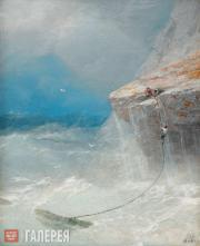 И.К.АЙВАЗОВСКИЙ. Cпасающиеся на скале