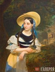 Карл Брюллов. Портрет итальянской певицы Фанни Персиани. 1834