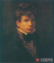 Жак Луи ДАВИД. Портрет художника Энгра в молодости (?). Конец 1790-х