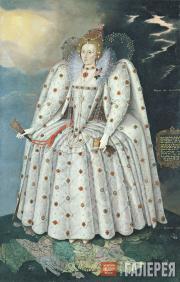 Герартс М.(младший). Портрет королевы Елизаветы I (Портрет из Дичли). Около 1592