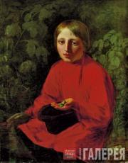 А.Г.ВЕНЕЦИАНОВ. Мальчик в красной рубашке. 1845