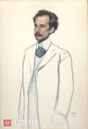 Бакст Леон. Портрет Андрея Белого. 1906