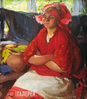 Архипов Абрам. Девушка в красном. 1916