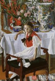 А.Я.ГОЛОВИН. Девочка и фарфор (Фрося). 1916