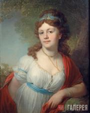 В.Л.БОРОВИКОВСКИЙ. Портрет Елизаветы Григорьевны Темкиной. 1798