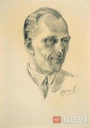 М.В.Добужинский. Портрет доктора В.И.Каменева (Франса). 1938