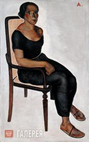 А.А.ДЕЙНЕКА. Девушка, сидящая на стуле. 1924
