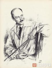 Верейский Георгий. Портрет Е.Е. Лансере. Сентябрь–октябрь 1944
