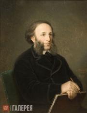 Болотов Дмитрий. Портрет художника И.К. Айвазовского (с папкой). 1876