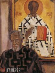 Андронов Николай Иванович. Автопортрет в музее. 1986–1996