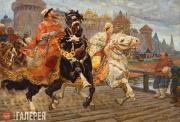 Авилов Михаил. Царевич Иван на прогулке. 1913
