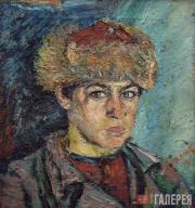 Д.Д.Бурлюк. Портрет молодого башкира. 1917
