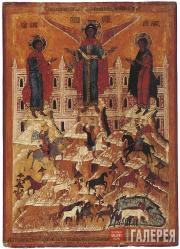 Григорьев Исаакий. Чудо архангела Михаила о Флоре и Лавре. 1603