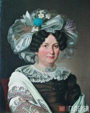 Яков АРГУНОВ. Портрет неизвестной. 1830
