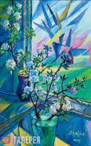 Цветы с ангелами. Около 1950-х