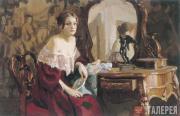 Д.В.Голенев. Женский портрет в интерьере. 2001