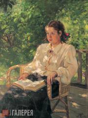 А.М.ГЕРАСИМОВ. Портрет дочери в саду. 1951