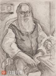 Голицын Илларион. Портрет Владимира Фаворского. 1962