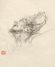 Голова Христа в терновом венце. 1892. Этюд