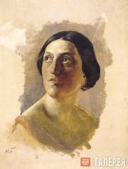 Голова римлянки. 1857
