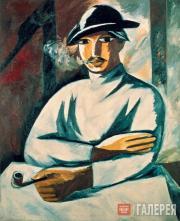 Н.С.Гончарова. Курильщик. 1911