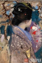Джордж ГЕНРИ. Японская дама с веером. 1894