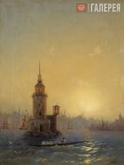 Айвазовский Иван Константинович. Вид Леандровой башни в Константинополе. 1848