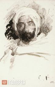 С.А.ВИНОГРАДОВ. Левитан в одежде бедуина. 1887