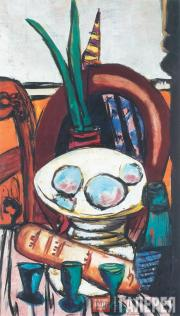 Макс БЕКМАН. Натюрморт с тремя стаканами. 1944