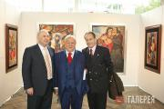Зураб Церетели с почетными членами Российской академии художеств