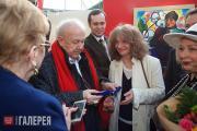 На открытии павильона Российской академии художеств