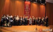Старейших сотрудников Третьяковской галереи приветствует Е.С.Хохлова