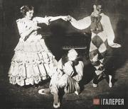 Тамара Карсавина, Вацлав Нижинский и Адольф Больм в балете «Карнавал»