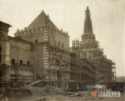 Строительство Казанского вокзала. Вид со стороны Каланчевской площади