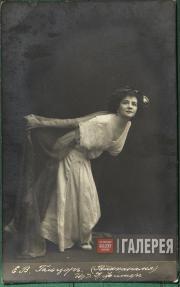 Екатерина Гельцер в балете «Вакханалия»