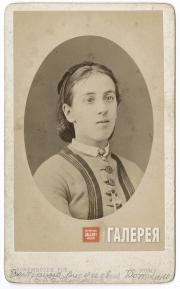 Екатерина Александровна Оболенская-Мордвинова. Начало 1870-х