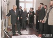 И.С.Глазунов с преподавателями Академии