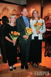 Потомки П.М.Третьякова Мэри, Александр и Грейс Зилоти (США) на выставке