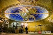 Работа мозаичистов в Храме Святого Саввы.  Белград. 2017