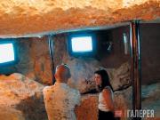 Подземная часть музея, предназначенная для видеоэкспозиций