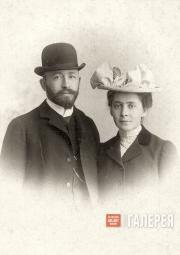 А.Д. Самарин и В.С. Мамонтова. Рим, ноябрь 1902