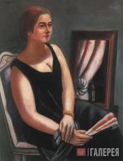 Макс БЕКМАН. Портрет Минны Бекман-Тюбе. 1924